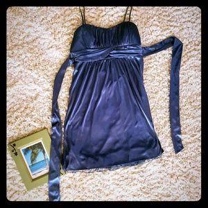 Empire waist silky dress